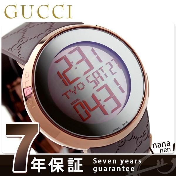 【あす着】グッチ 時計 メンズ アイグッチ 114 デジタル ミラー×ブラウンラバー GUCCI YA114209