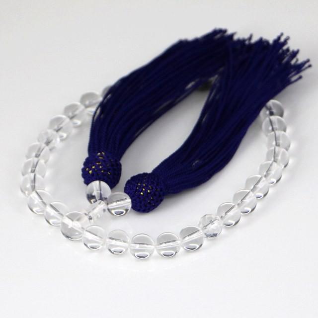 数珠 女性用 水晶の数珠 クリスタル