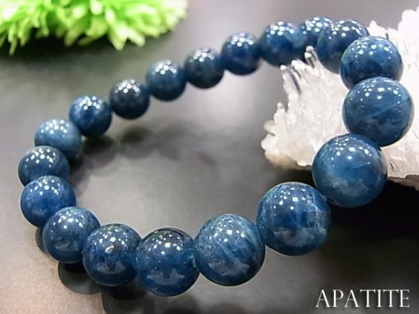 数珠 ブレスレット アパタイトブレス10MM 天然石 ...