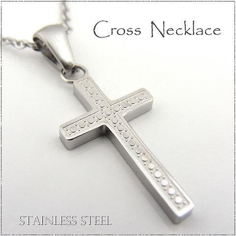 ステンレス ネックレス クロス 十字架 シルバーレ...
