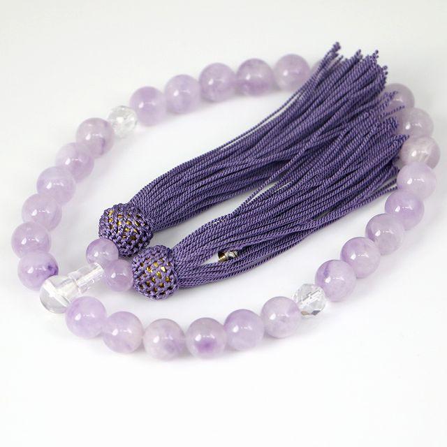 数珠 男女兼用 ラベンダーアメジストの数珠 紫水...