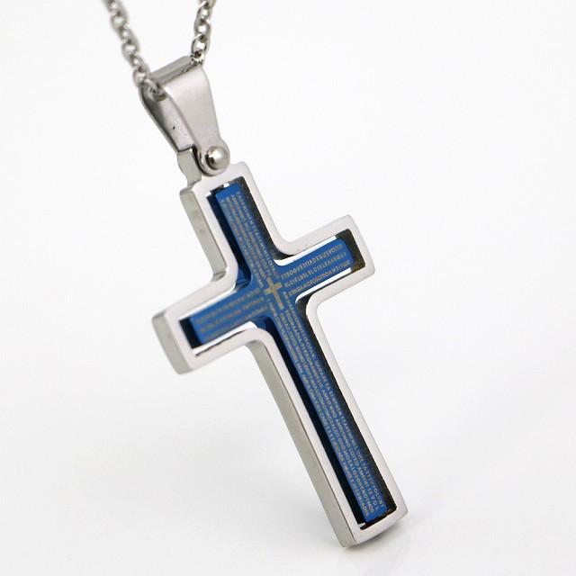 ステンレス ネックレス クロス 十字架 リバーシブ...