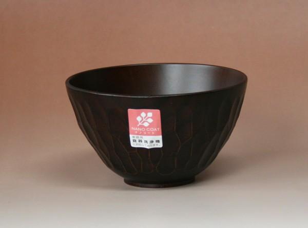 食器洗浄機対応 木製 ボコボコ汁椀(S) DBR ...