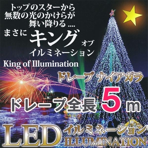 クリスマスイルミネーション LED720球ドレープナ...