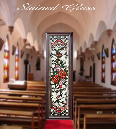 ◆教会を思わせるゴシック調【ステンドグラス】フ...