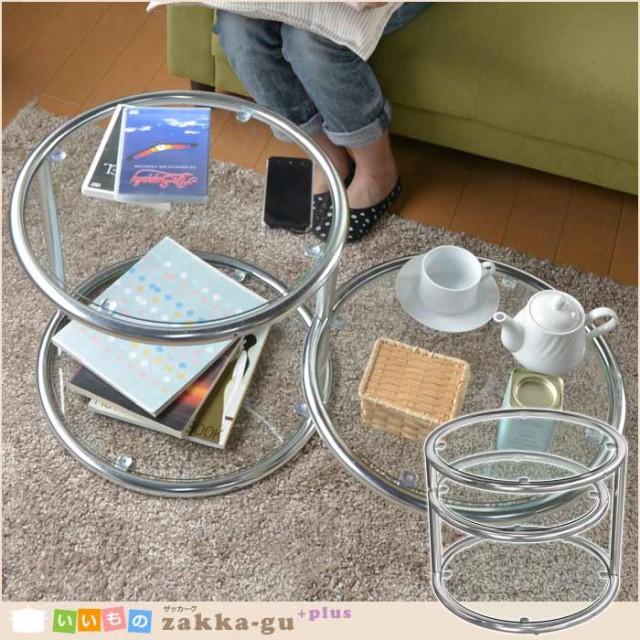 テーブル ガラス ガラステーブル ラウンド 丸 円...