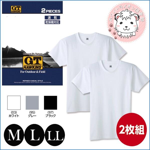 Tシャツ 2枚組 グンゼ GUNZE G.T.HAWKINS ホーキ...