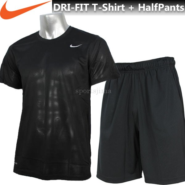 NIKE ナイキ DRI-FIT Tシャツ 半袖 + ハーフ 上下...