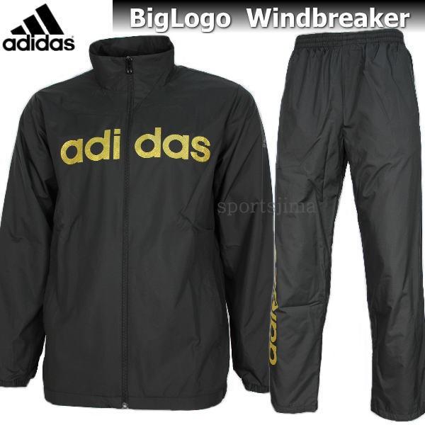 adidas アディダス Big Logo 裏起毛 ウィンドブレ...