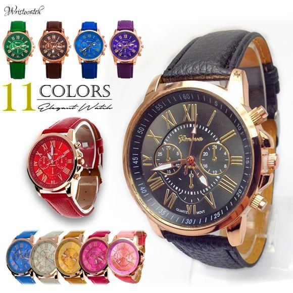 腕時計 ウォッチ 太ベルト カラフル 色 カジュア...