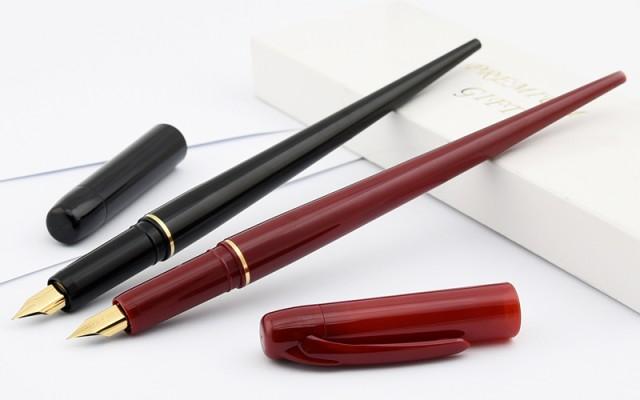 プラチナ PLATINUM デスクペン 万年筆 ブラック/...