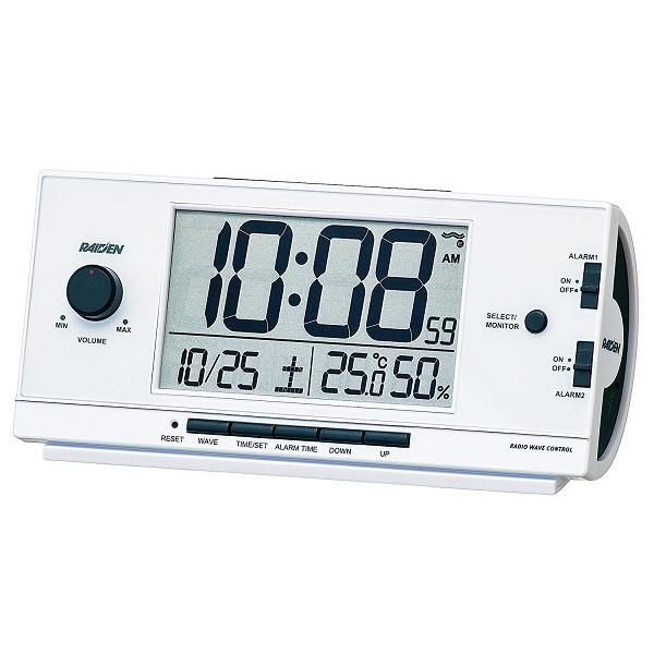 セイコー 電波目覚まし時計 NR534W(白) デジタル ...