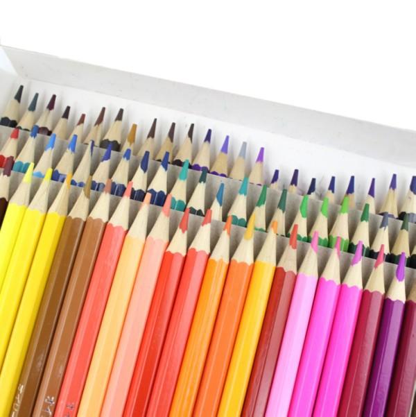 油性色鉛筆セット 72色 六角形 油性 色鉛筆 塗り...