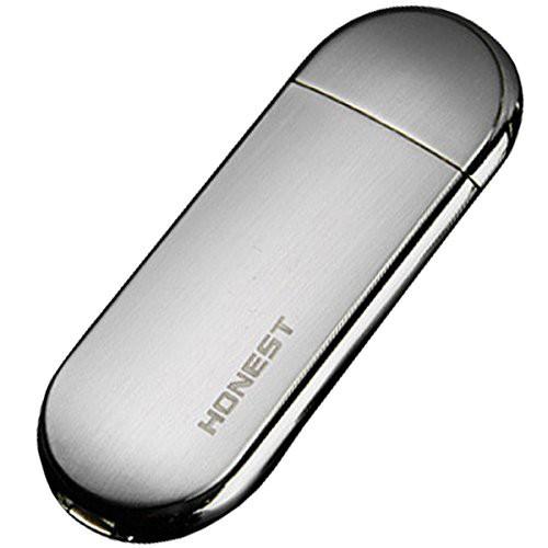 USB電子ライター シルバー USB接続 防風 軽量 極...