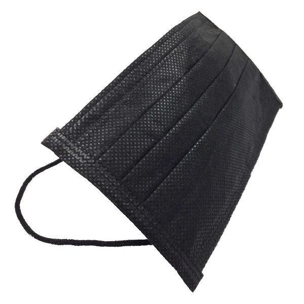 黒 マスク 使い捨て タイプ 50枚セット 不織布製 ...