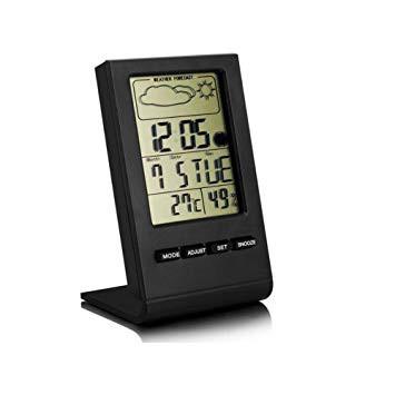 卓上マルチ温湿度計 温度計 湿度計 置時計 デジタ...
