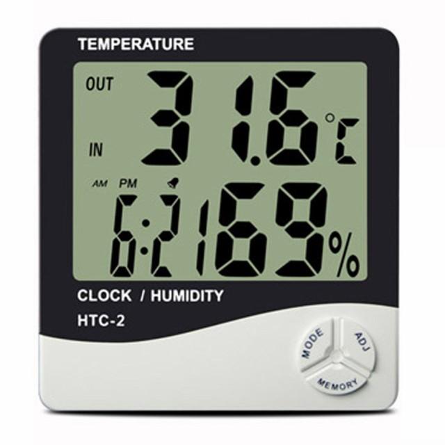 デジタル温湿度計 温度湿度時刻表示 置き掛け兼用...