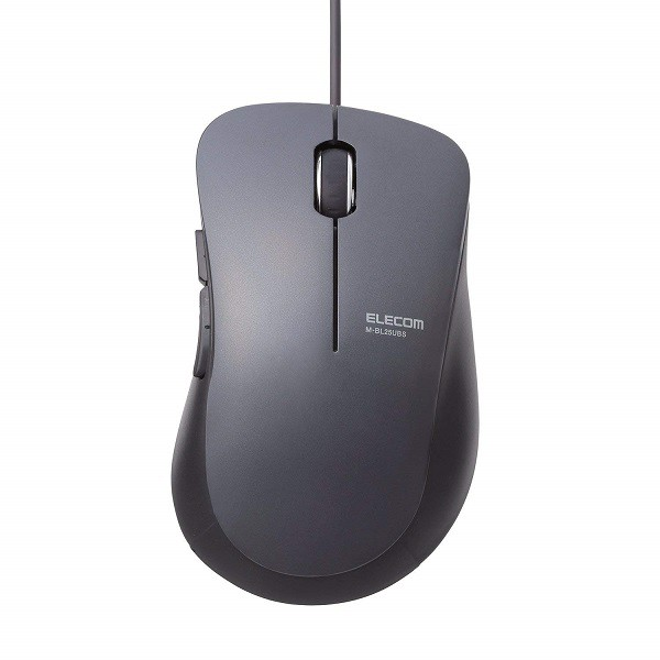 エレコム 有線マウス BlueLED 静音 5ボタン Mサイ...