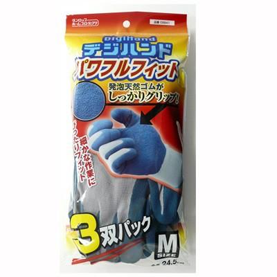 作業用ゴム手袋 厚手 M 3双パック ブルー ガーデ...