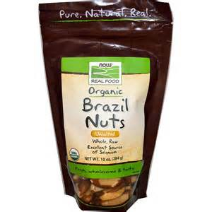 NOW Organic Brazil Nuts, Raw, unsalted 10oz...
