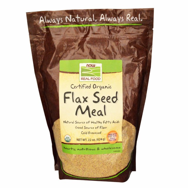 NOW Foods Flax Seed Meal, Certified Organic 1...
