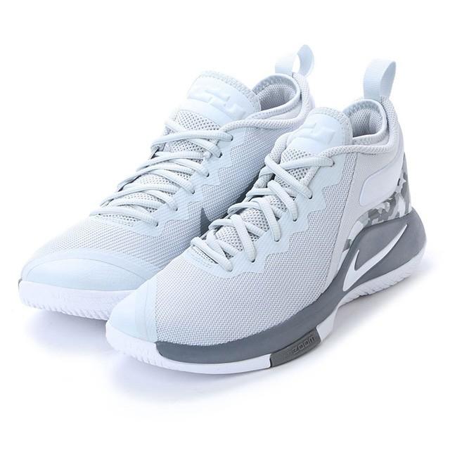 ナイキ レブロン ウィットネス II EP バスケットボール シューズ : グレー×ホワイト (AA3820002) NIKE