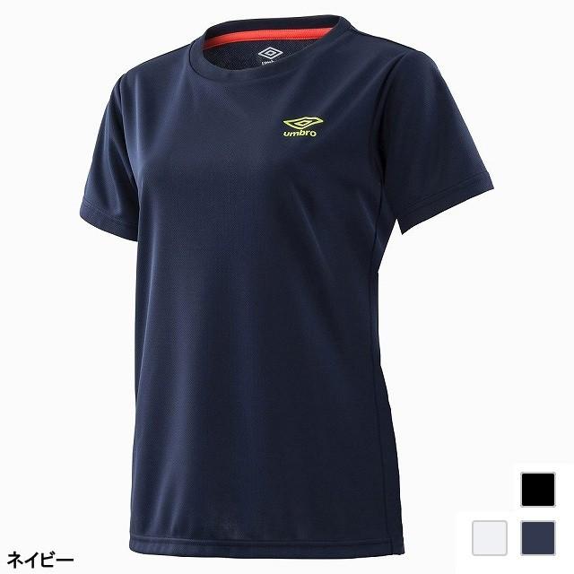 アンブロ レディース 半袖機能Tシャツ WM.ワンポ...
