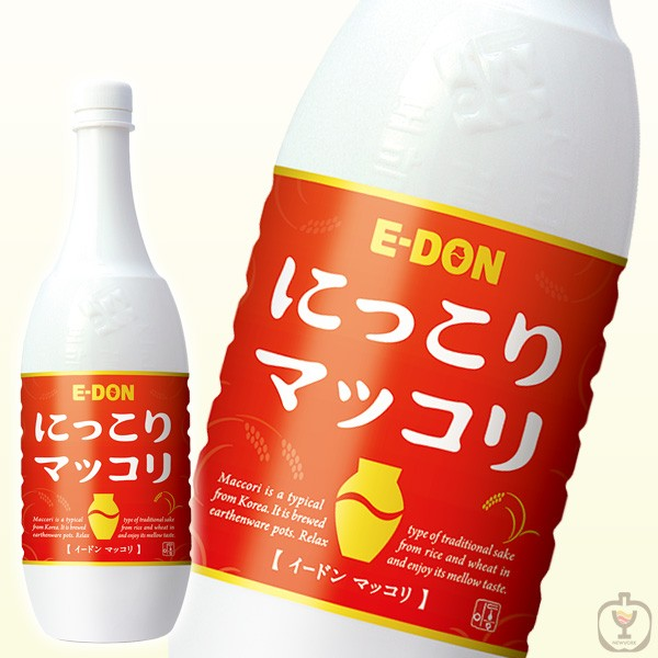 二東 にっこりマッコリ 6度 1000ml 1ケース15本(ペットボトル入り)