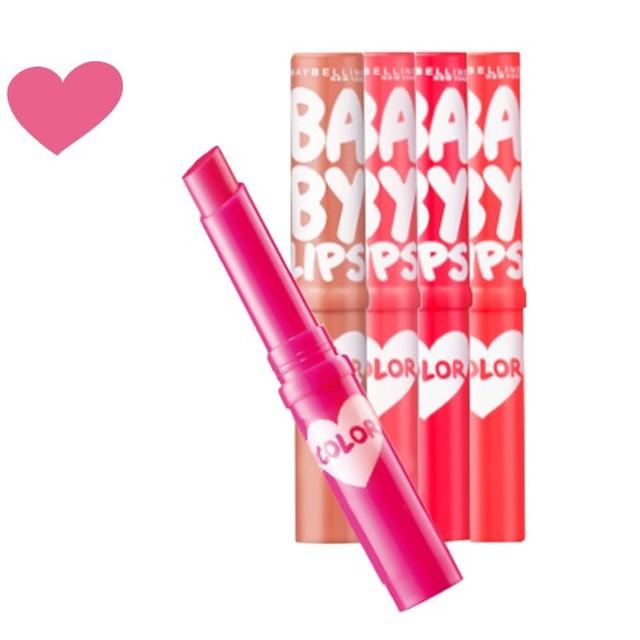 メイベリン リップクリームカラー03ローズピンク