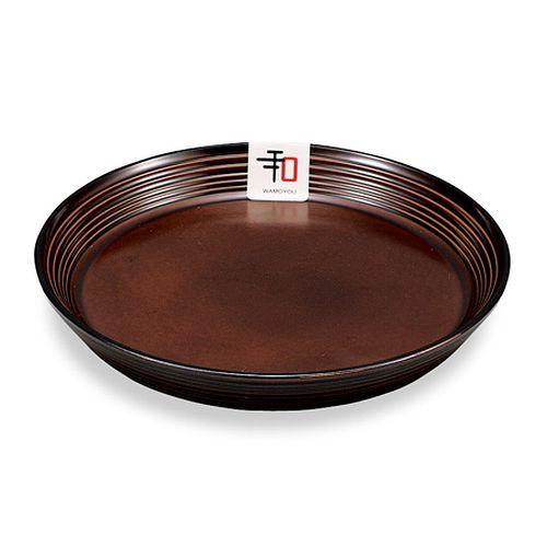 丸皿 和モヨウ 15cm 食器 [ブラウン] ( お皿 和皿...