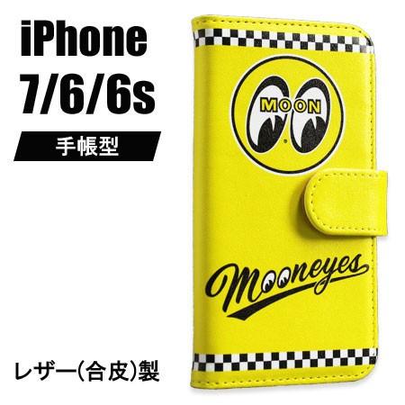 ムーンアイズ iPhone ケース 手帳型 iPhone7/6/6s...