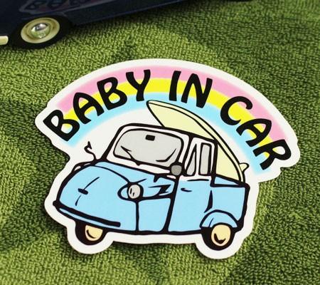 BABY IN CAR ステッカー 車 赤ちゃん アメリカン ...