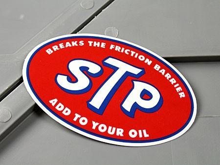 ステッカー STP OIL 車 バイク アメリカン NASCAR...