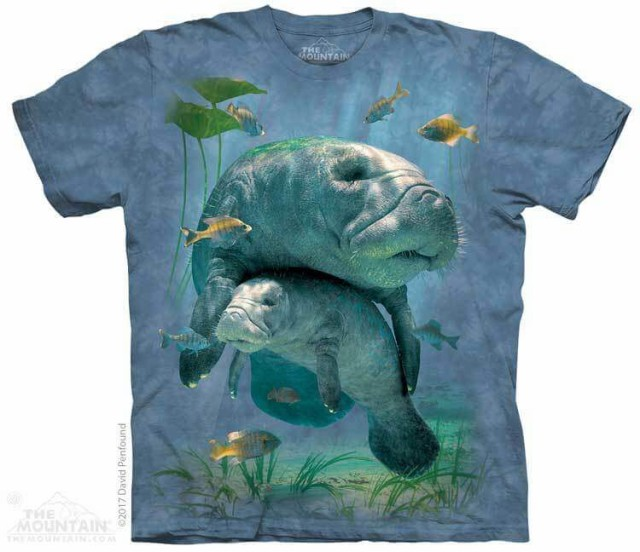 The Mountain Tシャツ Manatees Collage Kids T-S...