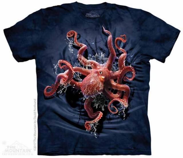 The Mountain Tシャツ Octopus Climb Kids T-Shir...