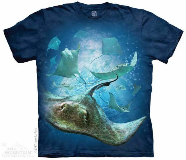 The Mountain Tシャツ School of Stingrays T-Shi...
