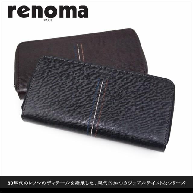 レノマ renoma ラウンドファスナー長財布 財布 パ...