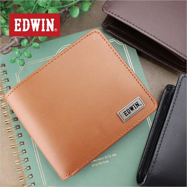 エドウィン EDWIN BOOK型二つ折り財布/中ベラ付き...
