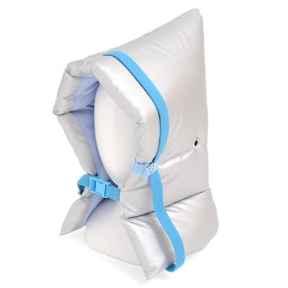 防災頭巾(椅子固定ゴム付き) 防炎シルバータイプ...