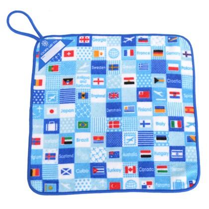 ループタオル 国旗で旅する世界旅行 N8500710 保...