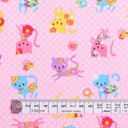 カラフル子猫のフラワーファッション(ピンク) ...