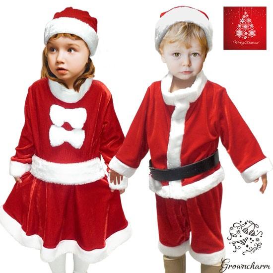 b4367e51b98f8 クリスマス コスプレ ベビー サンタ コスチューム 衣装 キッズ パーティー プレゼント 仮装 ワンピース 帽子 男の子 女の子 90 95