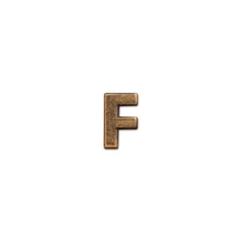 アルファベットパーツ F 亜鉛合金 D0.5 H1.8cm