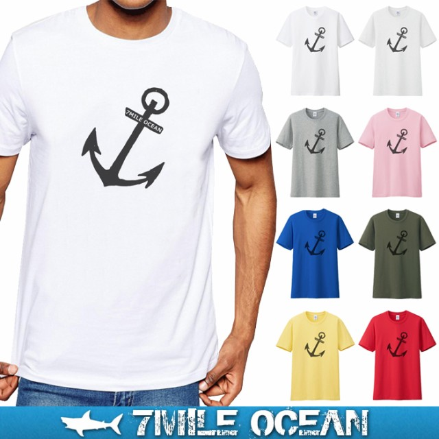 7MILE OCEAN メンズ 半袖 Tシャツ プリント おし...