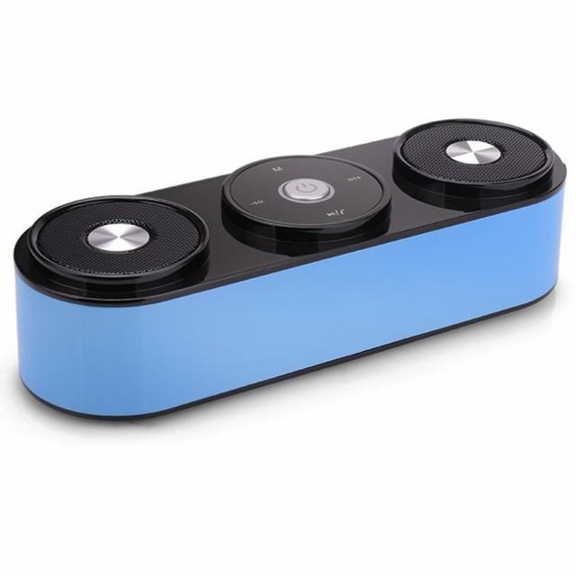 LENDOO Hi-Fi Bluetoothスピーカー 重低音 ワイヤ...