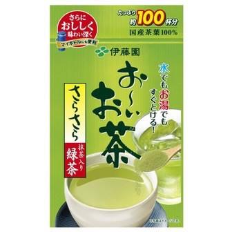 伊藤園 お〜いお茶 抹茶入りさらさら緑茶 80g入 ...