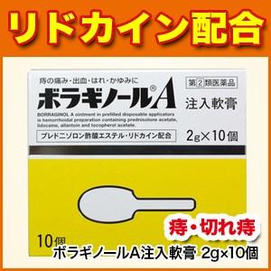 【痔の薬】ボラギノールA注入軟膏 2g×10個【痔/...