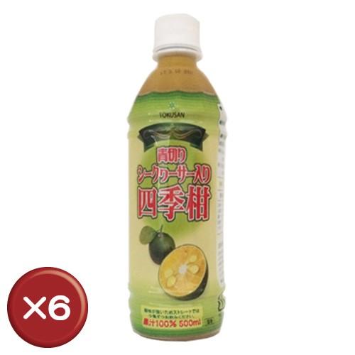 青切シークヮーサー入り四季柑500ml 6本セット|...
