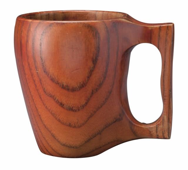 【木の器 カップ】 天然木製 一体型マグカップ 漆...