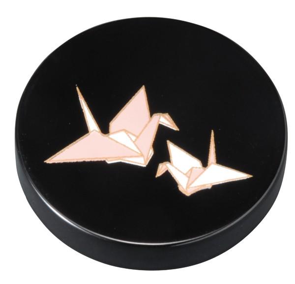 マグネット 黒 折鶴4.5cm×1.0cmの漆芸マグネット...